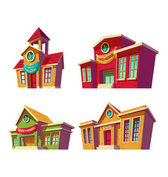 set of cartoon of various vector image