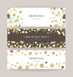 set zero waste concept vector image