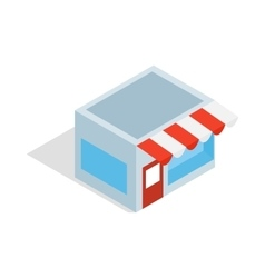 Shop icon isometric 3d style vector image