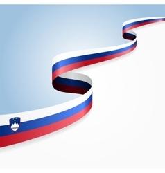 Slovenian flag background vector image