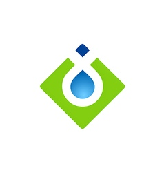 square abstract water drop logo vector image