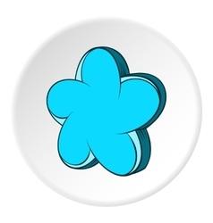 Star shaped flower icon cartoon style vector