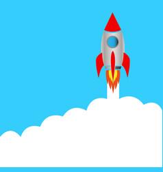 Start space rocket vector