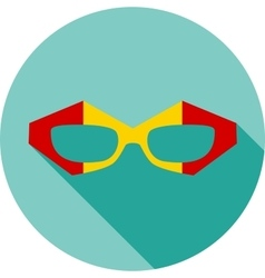 Super hero mask glasses collection Flat style vector image