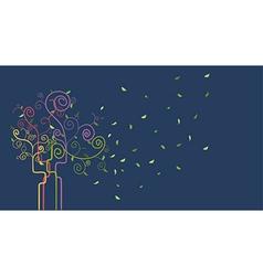 Swirl spring tree vector image