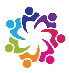 Teamwork union people logo vector image