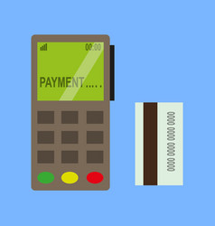 Terminal credit card vector