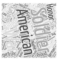 The Proud Black American Soldier Word Cloud vector image
