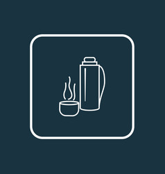 Thermos icon line symbol premium quality isolated vector