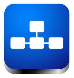 Topological hierarchical diagram icon multilevel vector