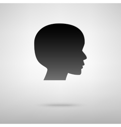 User black icon vector image