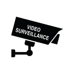 video surveillance icon security vector image