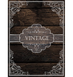 Vintage card design vector