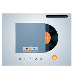 vinyl disk in envelope music player vector image