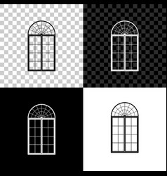 window icon isolated on black white and vector image