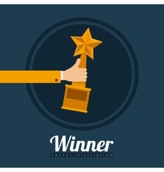 Winner design vector image