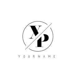 Xp letter logo with cutted and intersected design vector