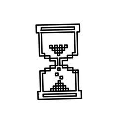 figure pixel hourglass icon vector image vector image