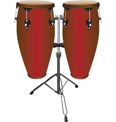 Pair of Conga Drums vector image vector image