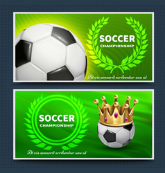 soccer football league announcement posters vector image vector image