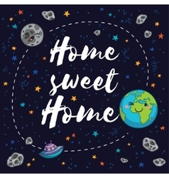 Sweet home Fantastic childish background in vector image vector image