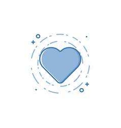 business of blue colors heart vector image