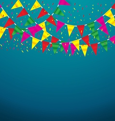 Celebrate banner party flags vector