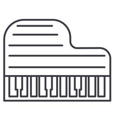 grand piano line icon sign vector image vector image