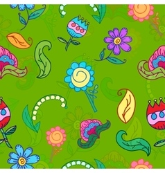 Hand drawing floral seamless pattern vector image