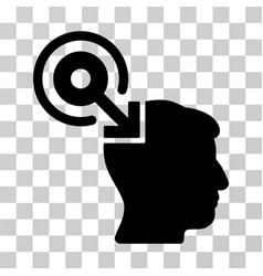 brain interface plug-in icon vector image