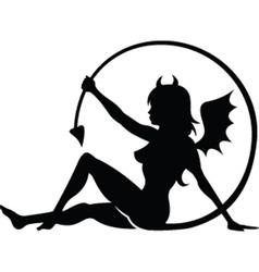 Devil girl vector