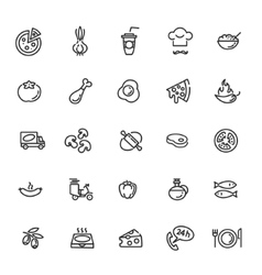 Italian traditional pizza - web icons set vector image