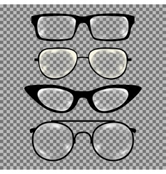 Set of custom glasses isolated vector image vector image