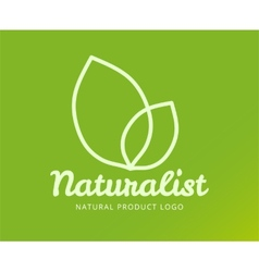 Abstract eco nature logo template for vector image