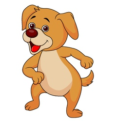 Funny dog cartoon dancin vector image vector image