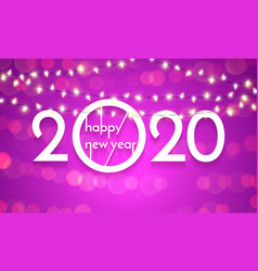 2020 happy new year christmas lights lamps golden vector image