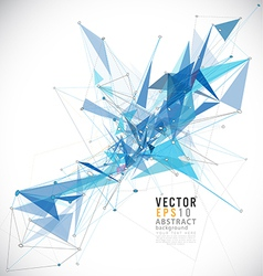Abstract mesh tech background lines and shapes vector