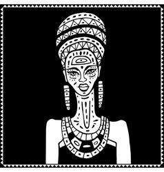 African woman Portrait vector image