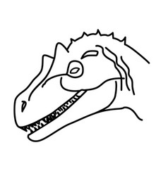 allosaurus icon doodle hand drawn or black vector image