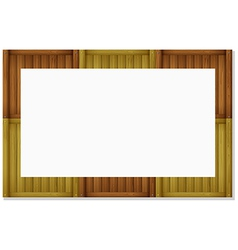 An empty board frame vector image