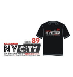 athletic ny city typography design vector image