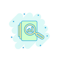 Audit document icon in comic style result report vector