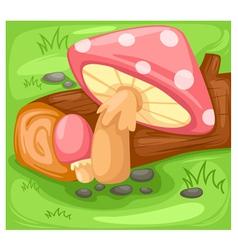 Background mushroom vector