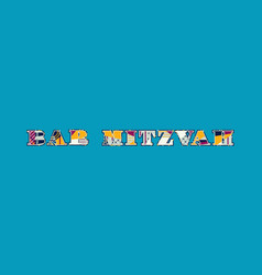 Bar mitzvah concept word art vector
