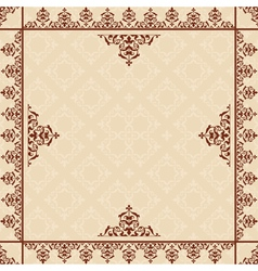 beige background with victorian ornament vector image