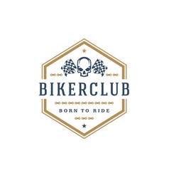 Biker club logo template design element vector