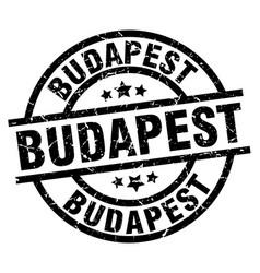 Budapest black round grunge stamp vector