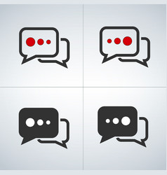 chat bubbles set vector image