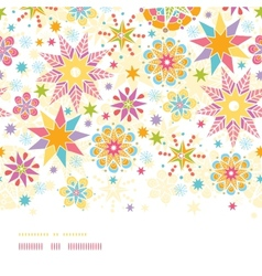 Colorful Christmas Stars Horizontal Seamless vector