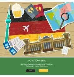 Concept travel or studying german vector